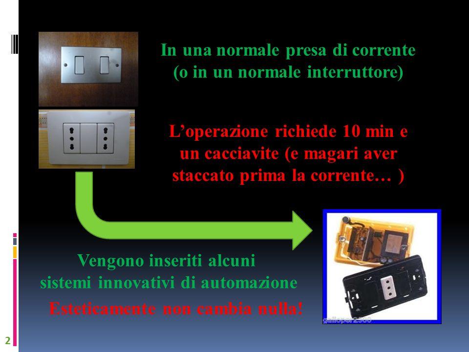 In una normale presa di corrente (o in un normale interruttore)