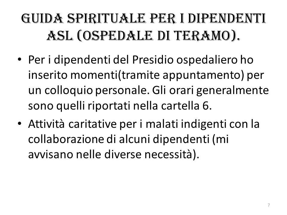 Guida spirituale per i dipendenti asl (Ospedale di Teramo).