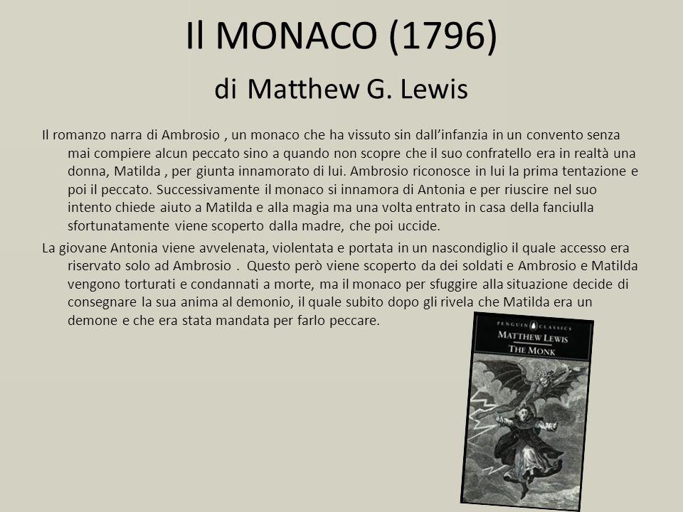 Il MONACO (1796) di Matthew G. Lewis