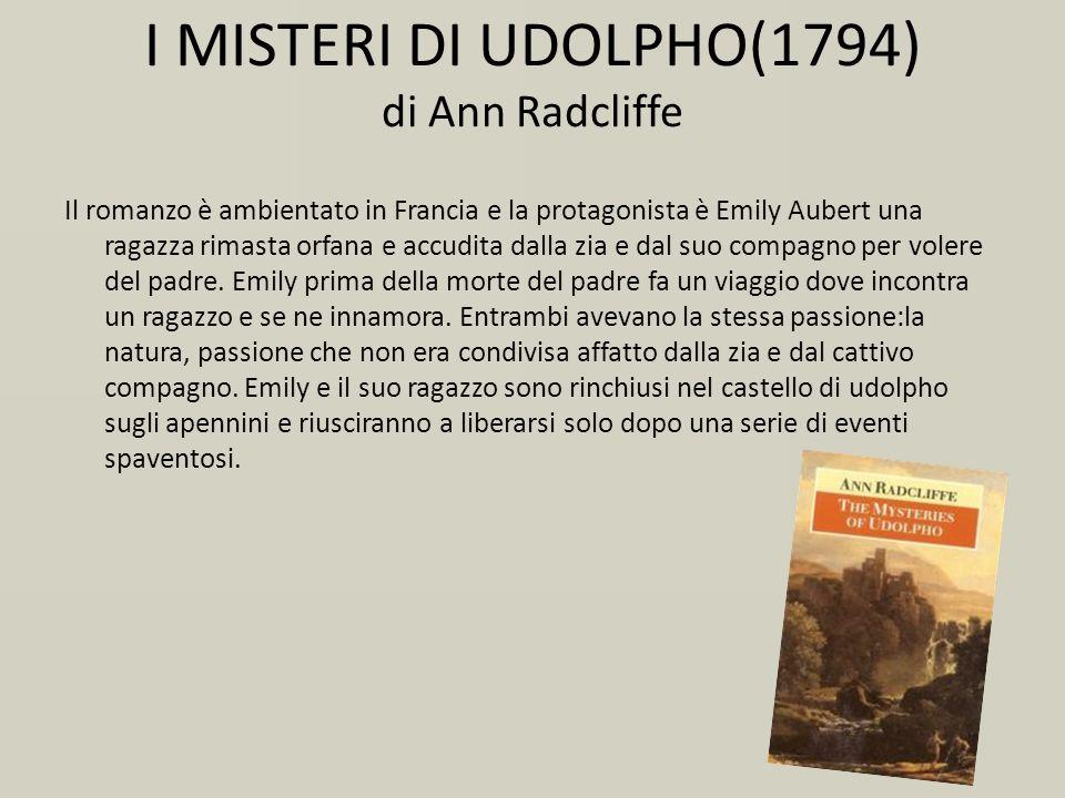 I MISTERI DI UDOLPHO(1794) di Ann Radcliffe