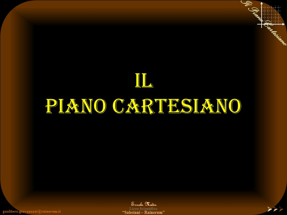 Il Piano Cartesiano 