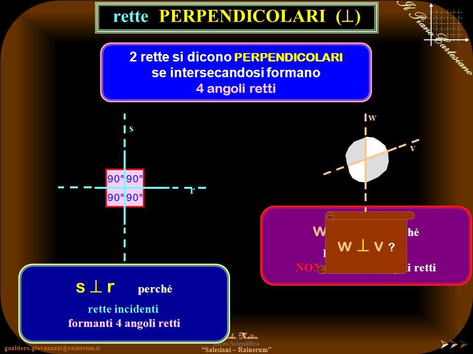 rette PERPENDICOLARI ()
