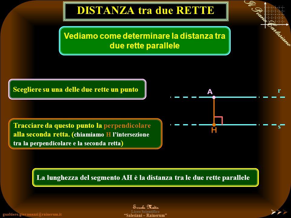 Vediamo come determinare la distanza tra