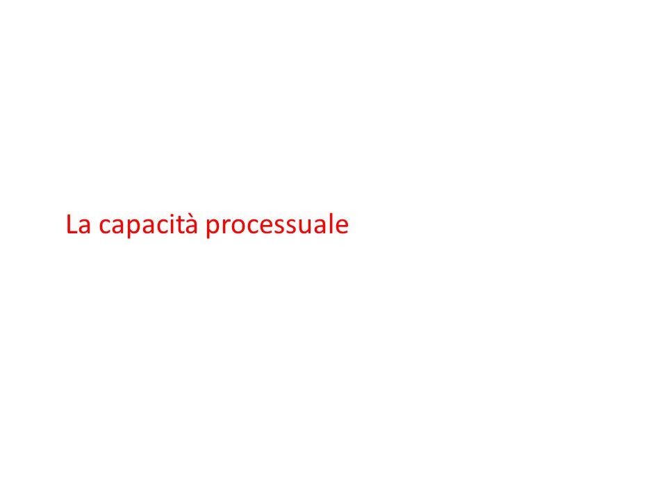 La capacità processuale