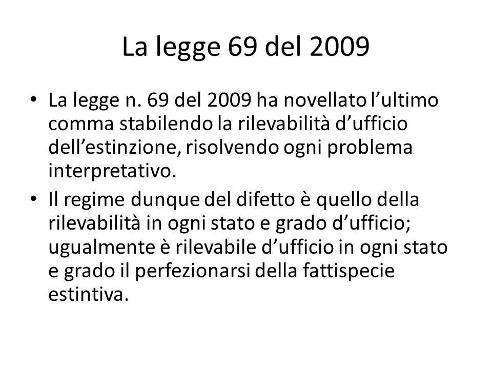 La legge 69 del 2009