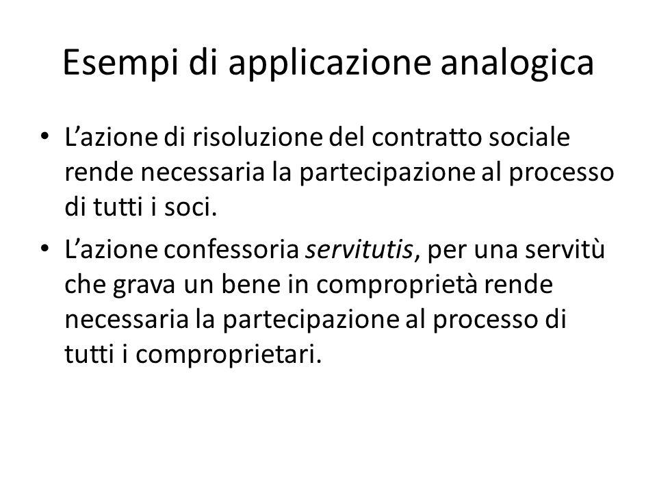 Esempi di applicazione analogica