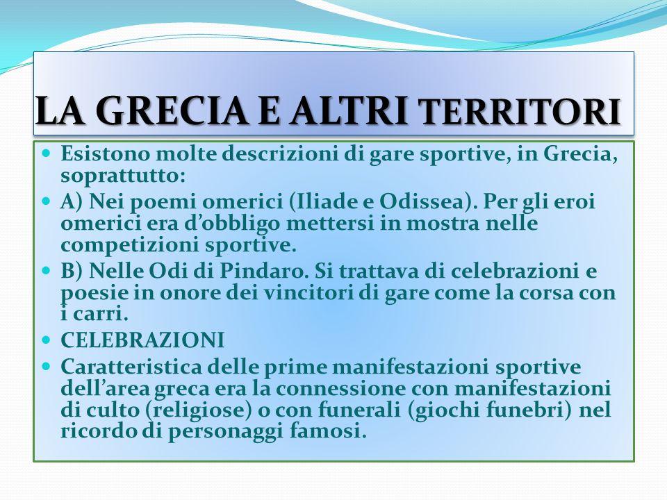 LA GRECIA E ALTRI TERRITORI