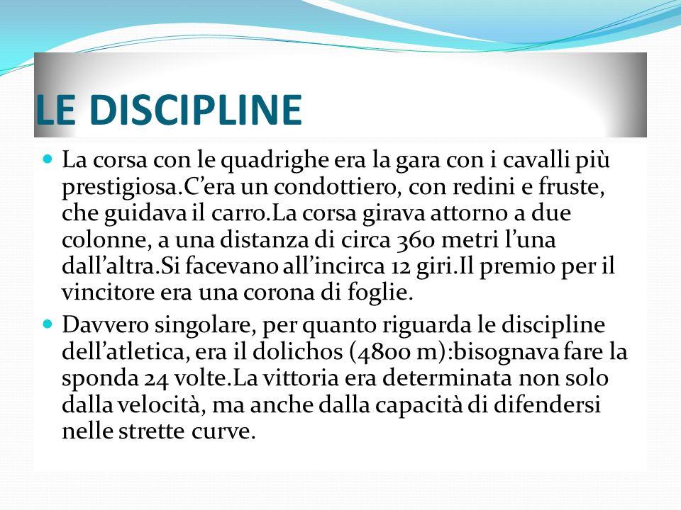 LE DISCIPLINE