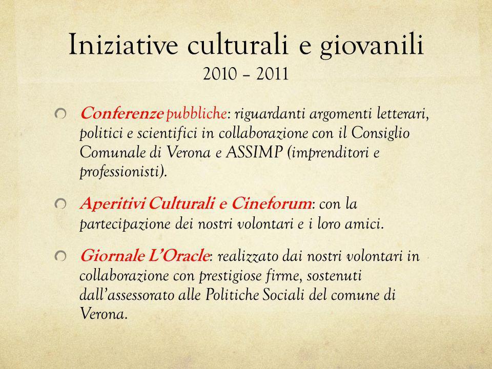 Iniziative culturali e giovanili 2010 – 2011