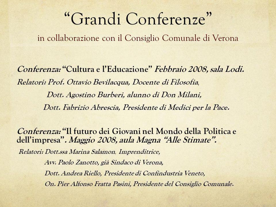 in collaborazione con il Consiglio Comunale di Verona
