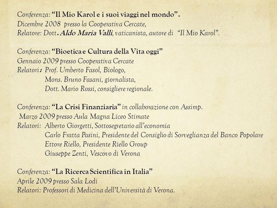 Conferenza: Il Mio Karol e i suoi viaggi nel mondo .