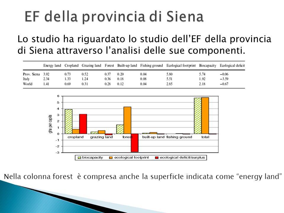 EF della provincia di Siena
