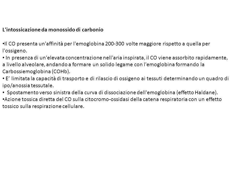 L intossicazione da monossido di carbonio