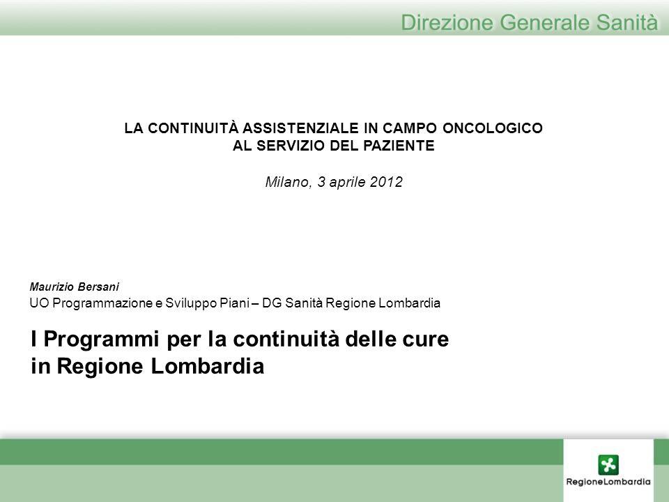 I Programmi per la continuità delle cure in Regione Lombardia