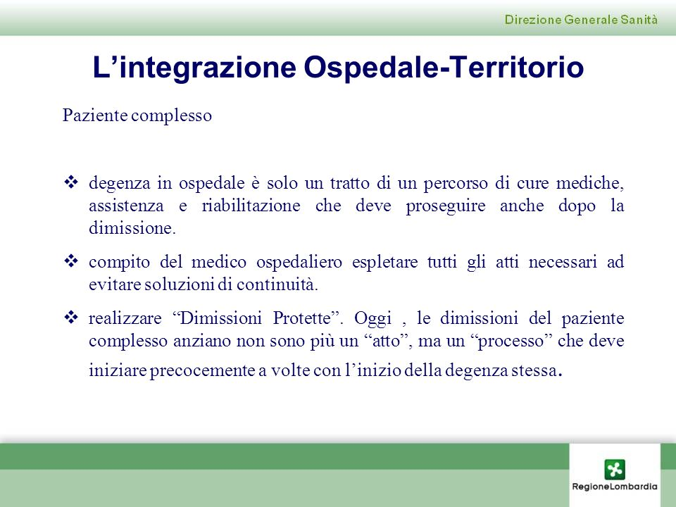 L'integrazione Ospedale-Territorio