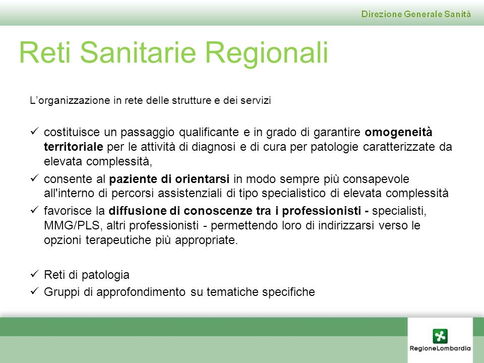 Reti Sanitarie Regionali