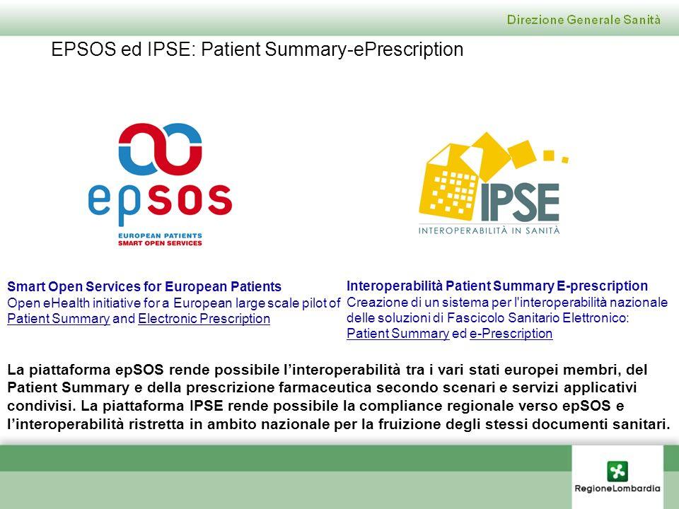 EPSOS ed IPSE: Patient Summary-ePrescription