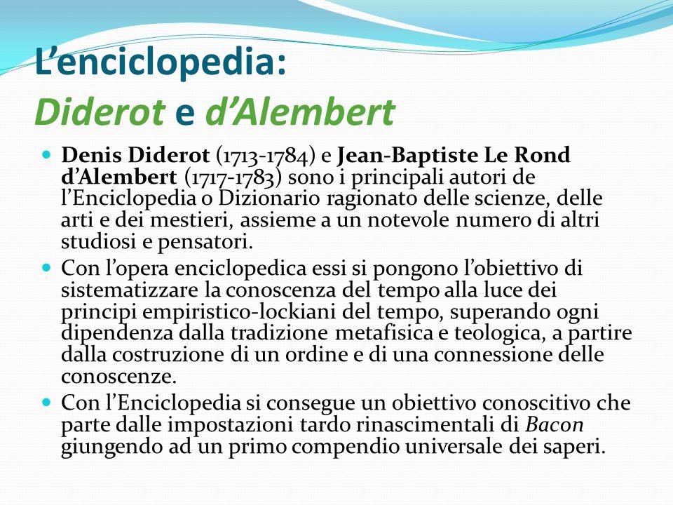 L'enciclopedia: Diderot e d'Alembert