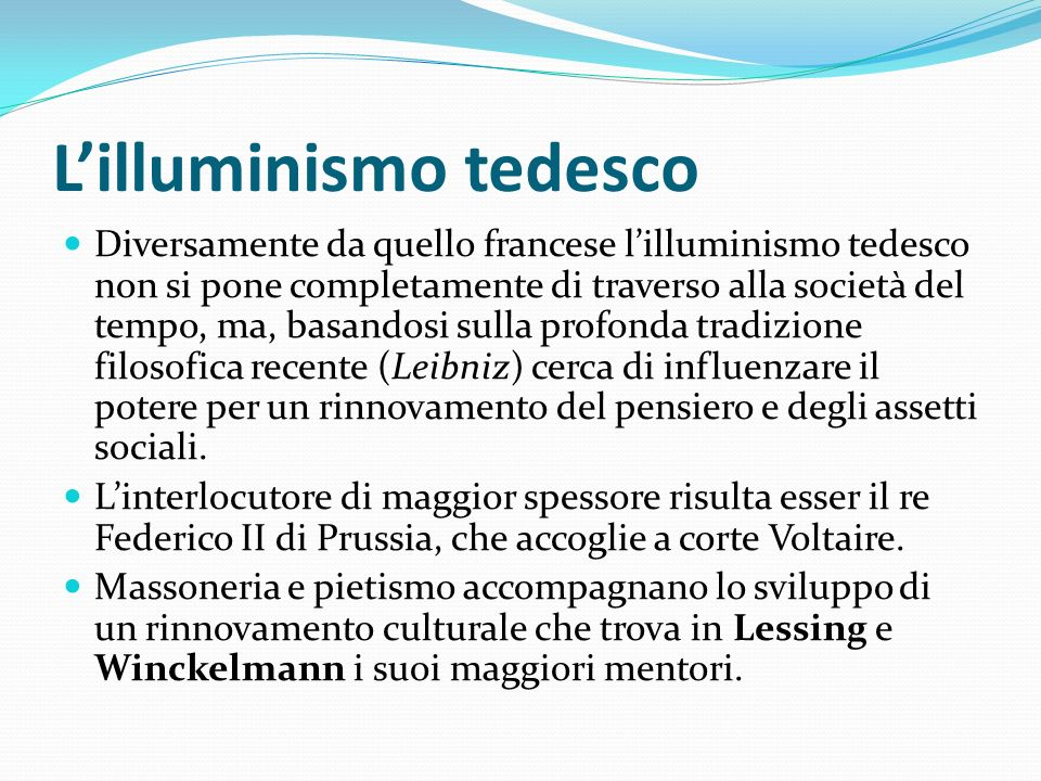 L'illuminismo tedesco