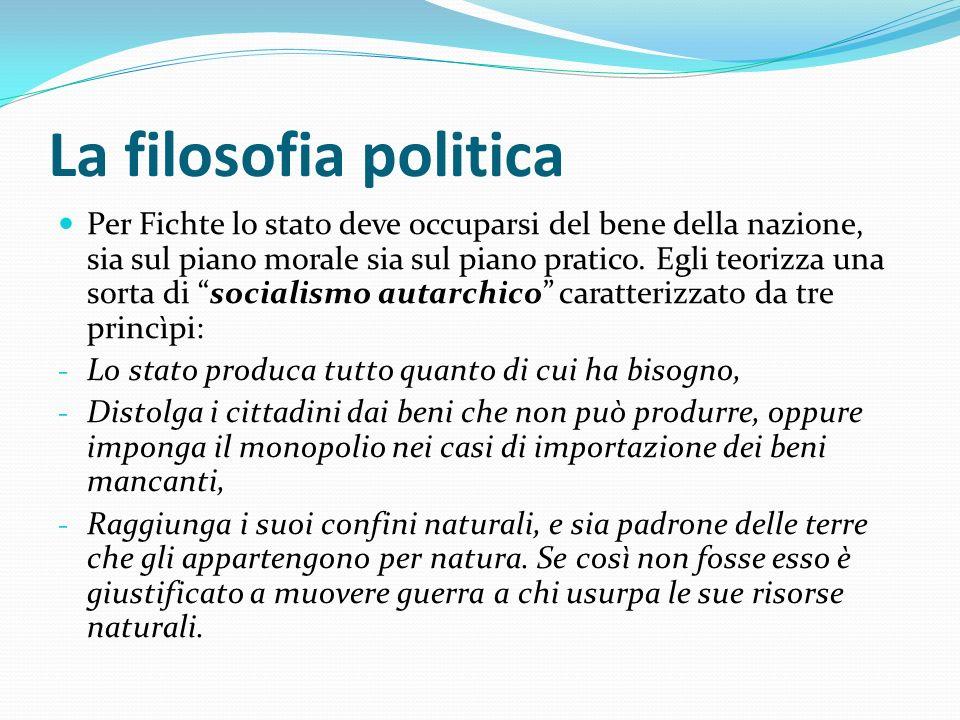 La filosofia politica