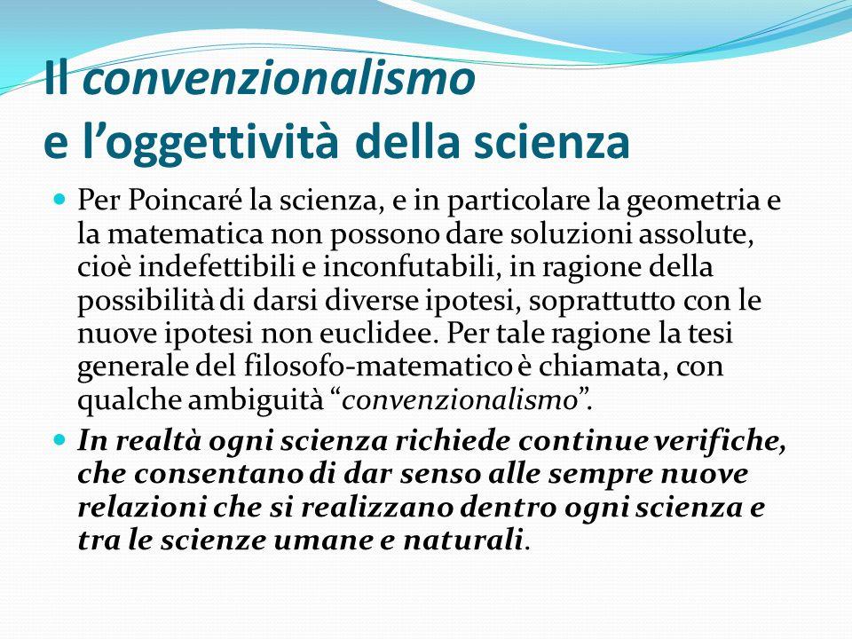 Il convenzionalismo e l'oggettività della scienza