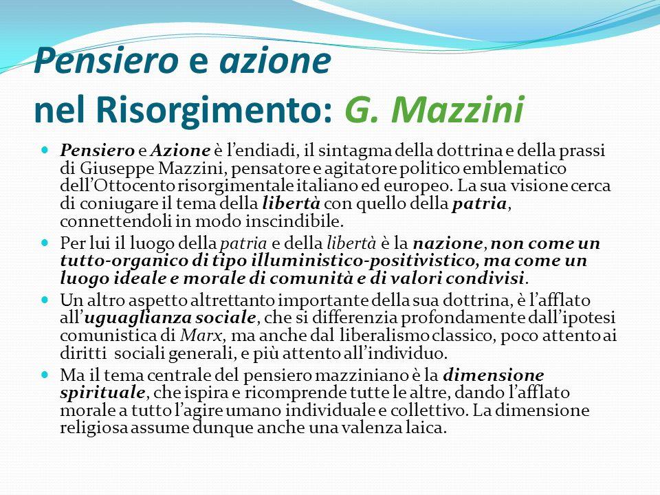 Pensiero e azione nel Risorgimento: G. Mazzini