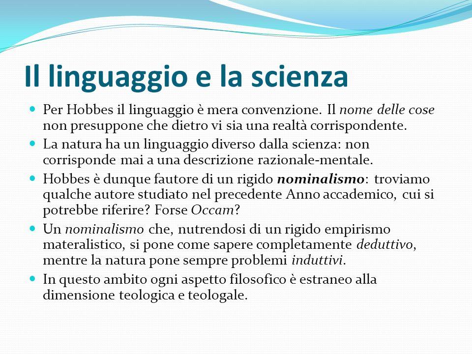 Il linguaggio e la scienza