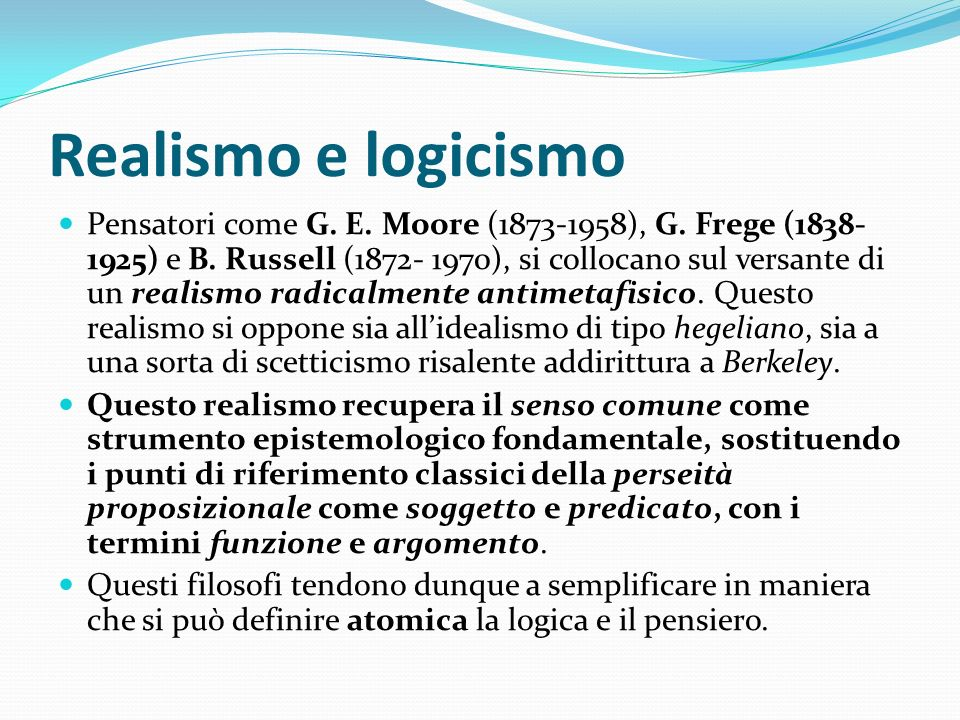 Realismo e logicismo