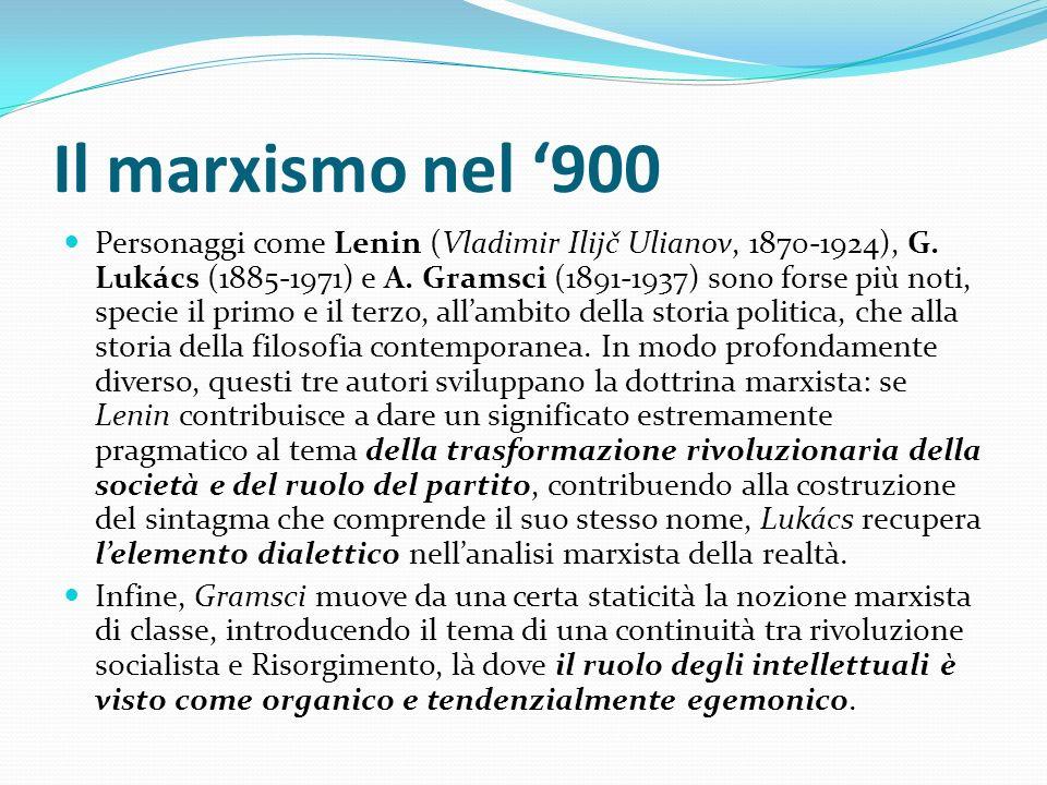 Il marxismo nel '900
