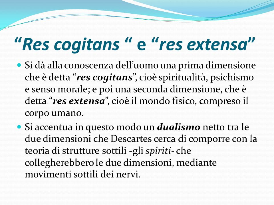 Res cogitans e res extensa