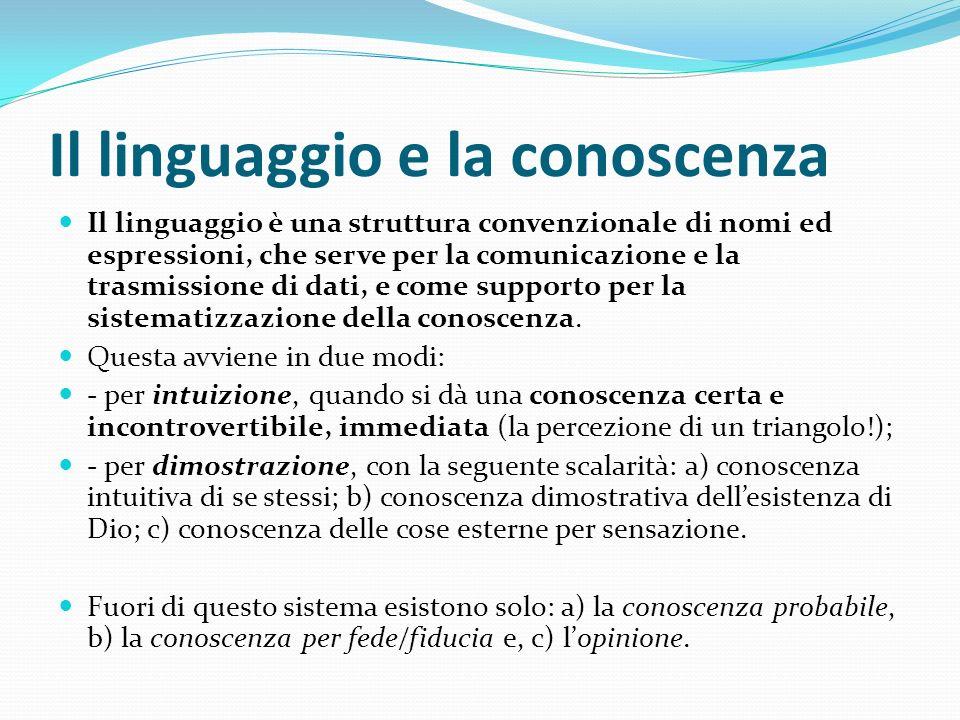 Il linguaggio e la conoscenza