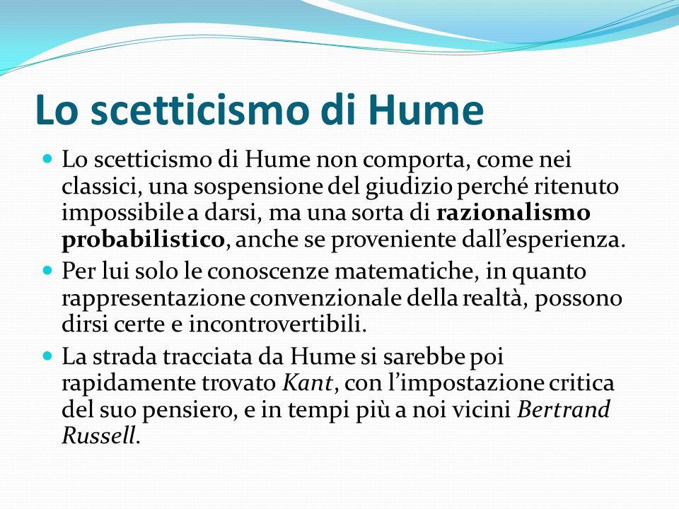 Lo scetticismo di Hume