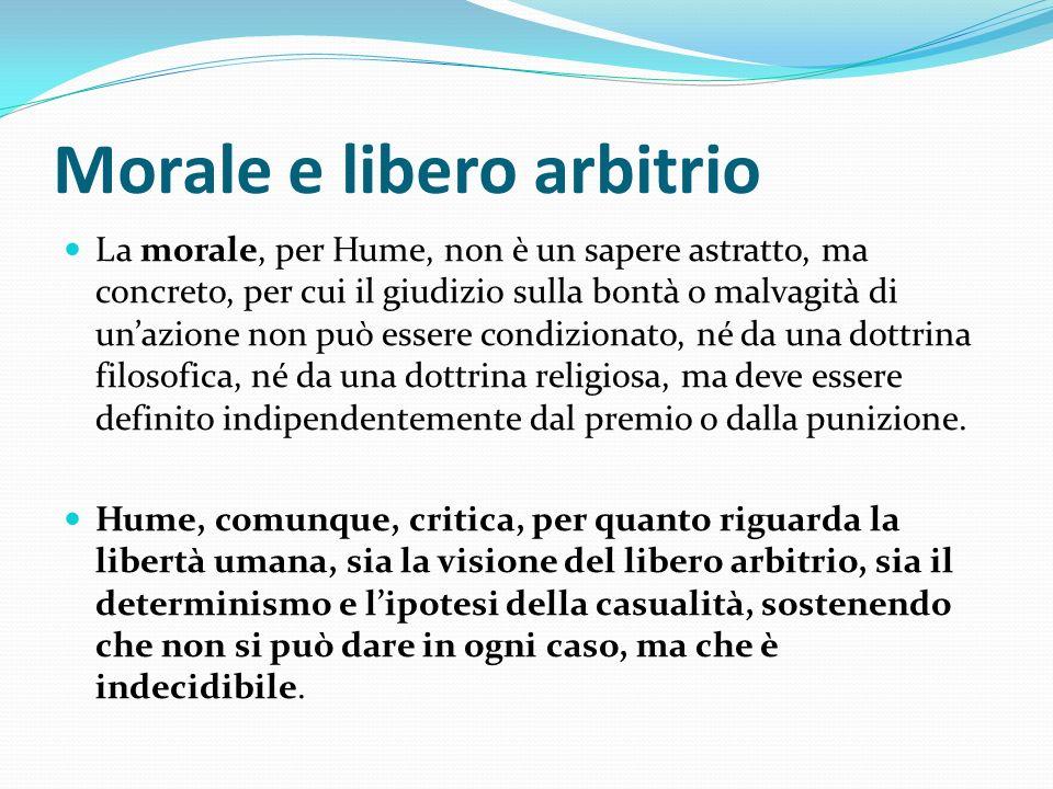 Morale e libero arbitrio