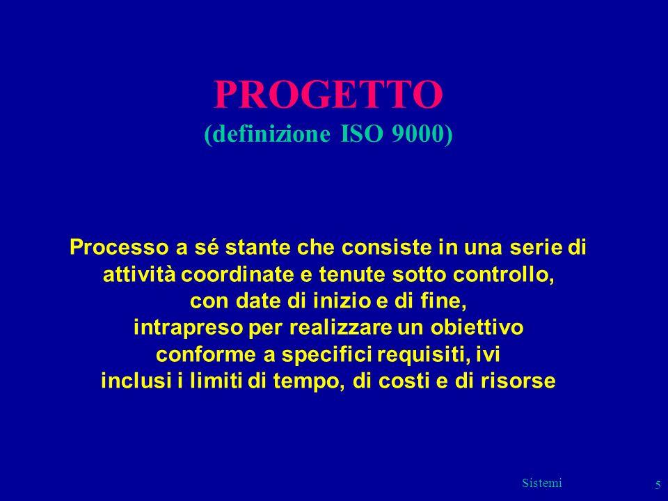 PROGETTO (definizione ISO 9000)