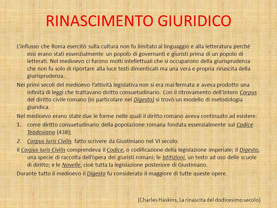 RINASCIMENTO GIURIDICO