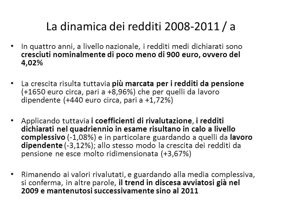 La dinamica dei redditi 2008-2011 / a
