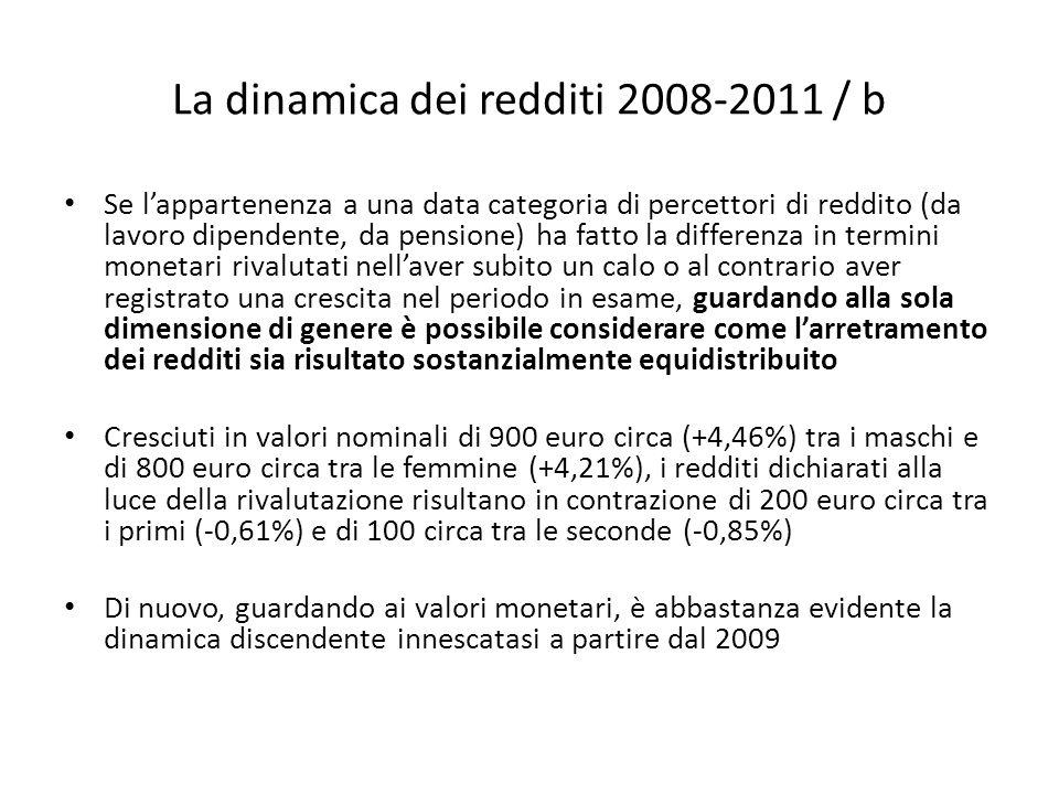 La dinamica dei redditi 2008-2011 / b