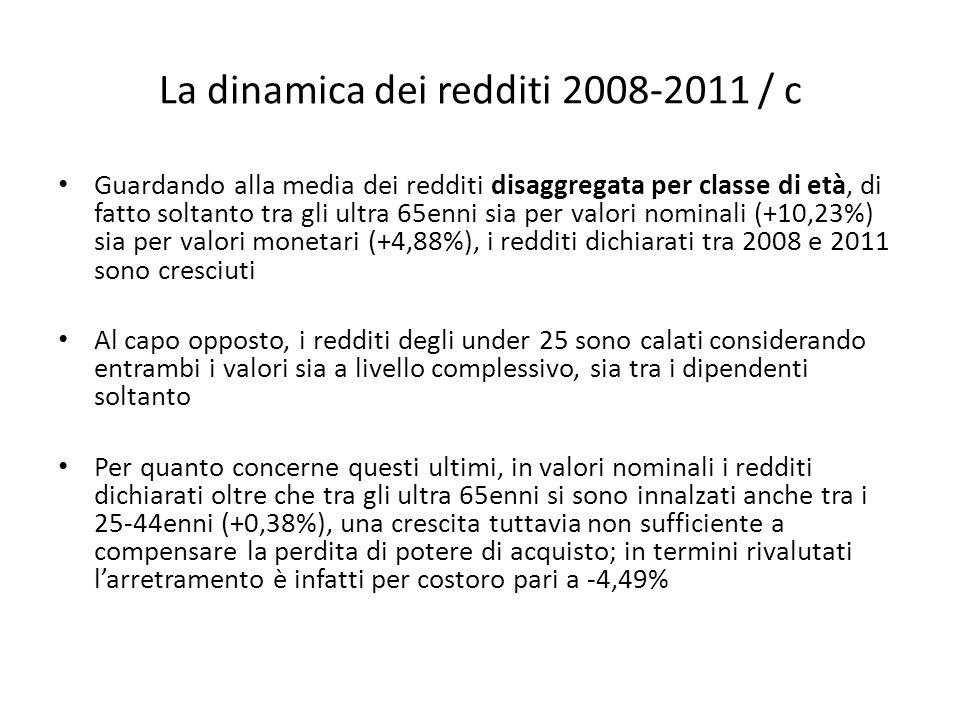 La dinamica dei redditi 2008-2011 / c