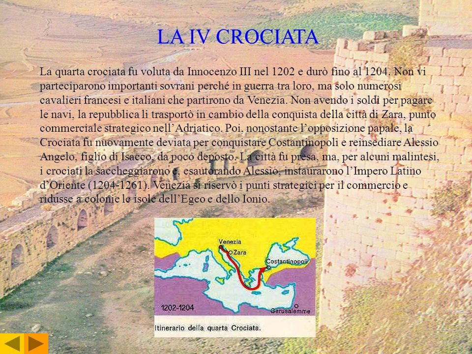 LA IV CROCIATA