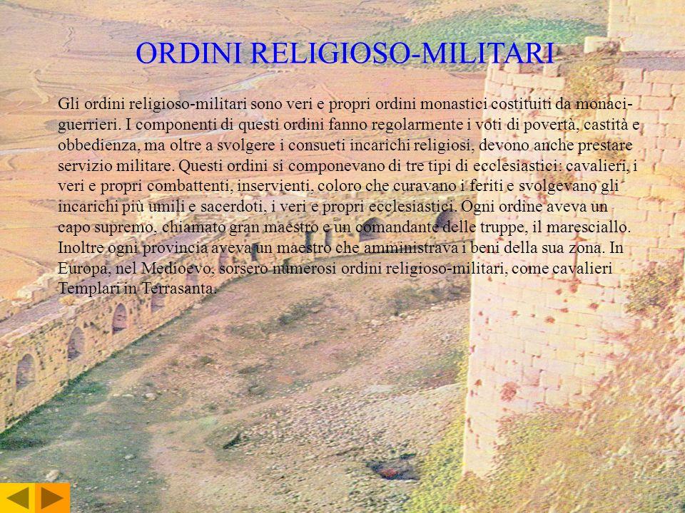 ORDINI RELIGIOSO-MILITARI