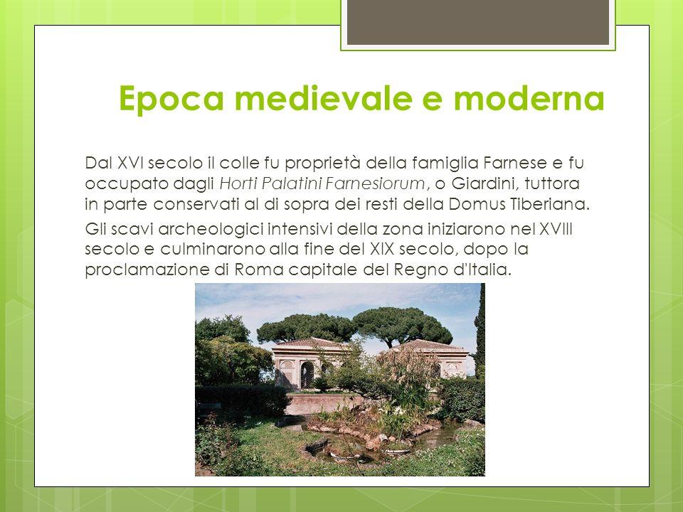 Epoca medievale e moderna