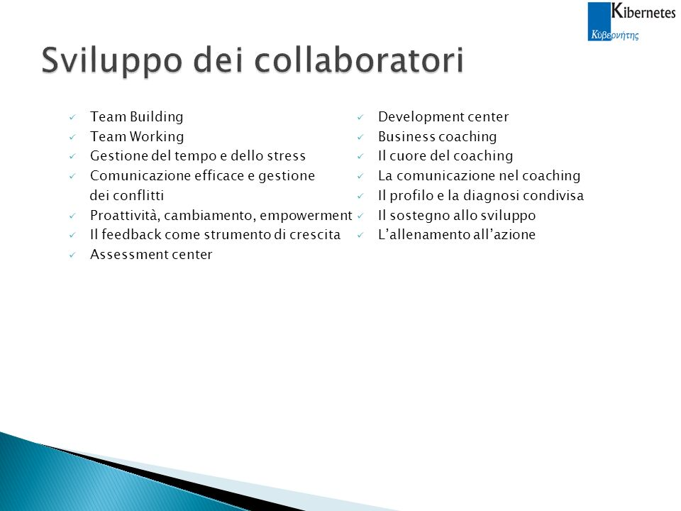 Sviluppo dei collaboratori