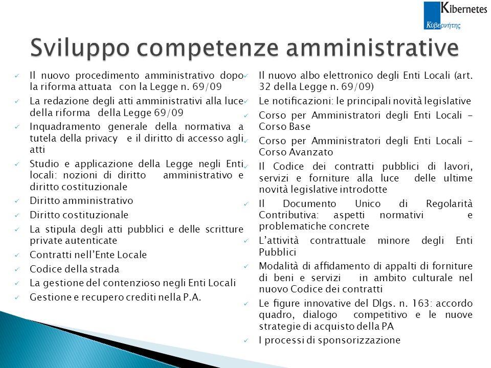 Sviluppo competenze amministrative