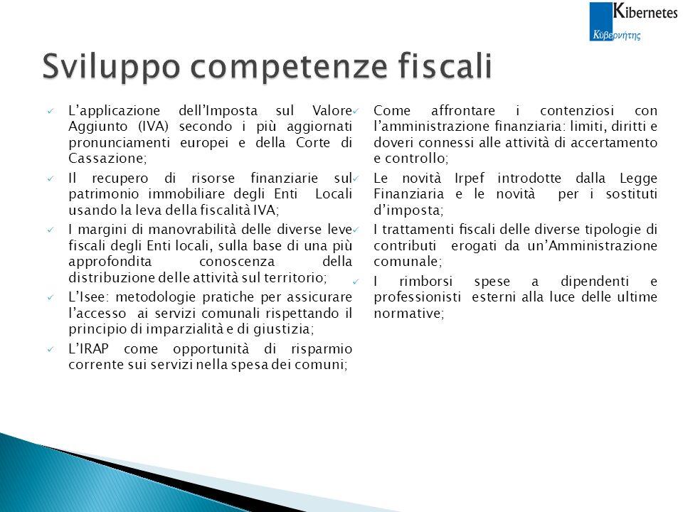 Sviluppo competenze fiscali
