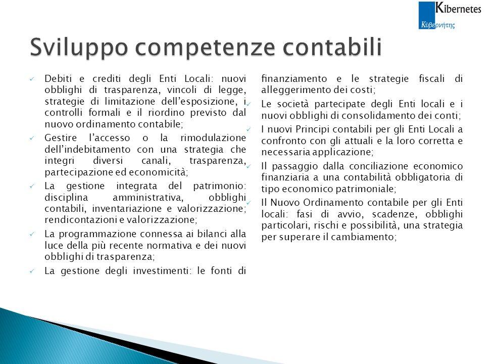 Sviluppo competenze contabili