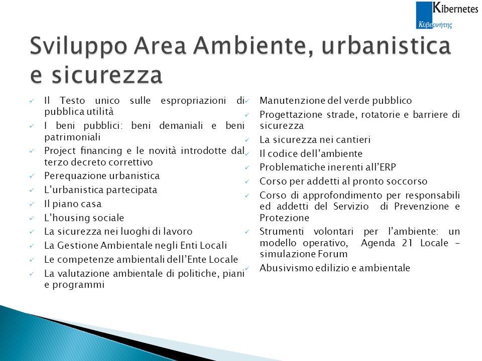 Sviluppo Area Ambiente, urbanistica e sicurezza