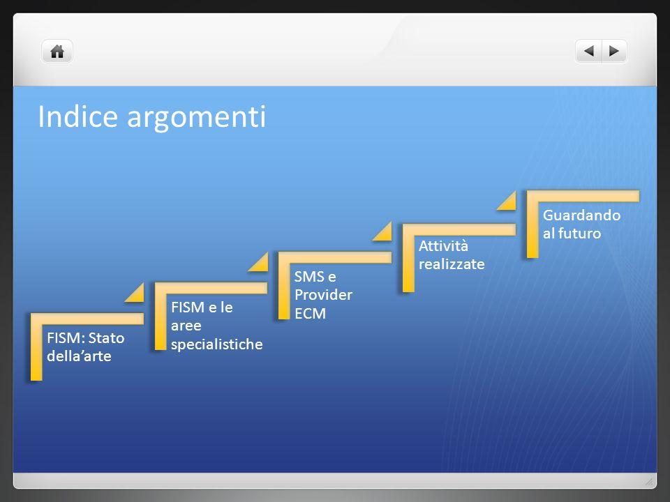 Indice argomenti FISM: Stato della'arte FISM e le aree specialistiche