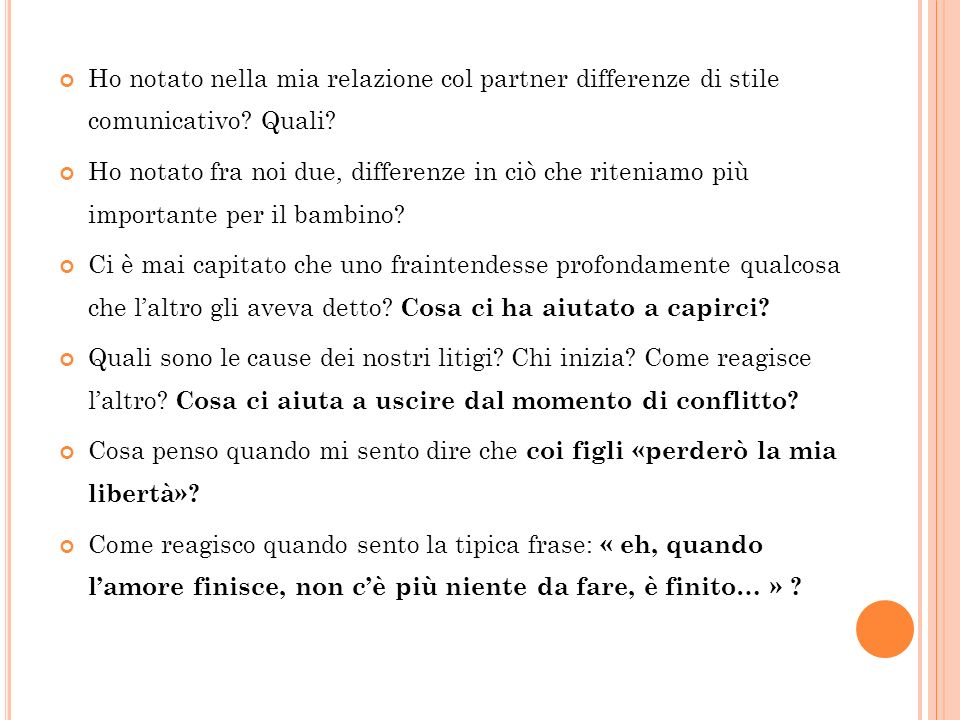 Ho notato nella mia relazione col partner differenze di stile comunicativo Quali
