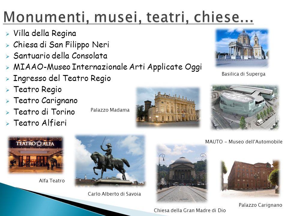 Monumenti, musei, teatri, chiese...