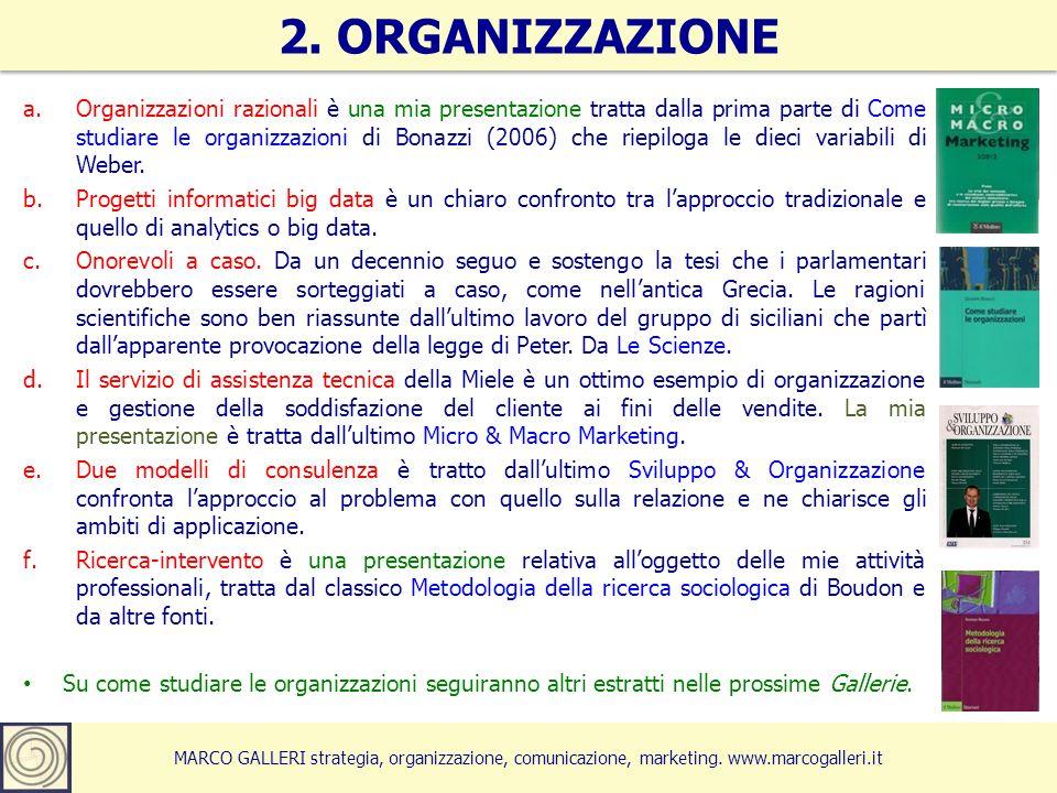 2. ORGANIZZAZIONE